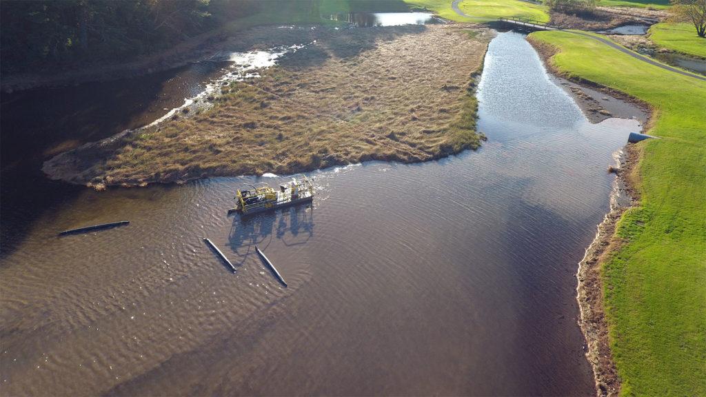 dredging a pond