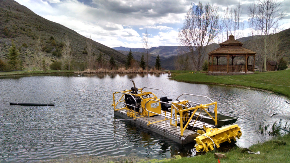 dredge on a pond in colorado